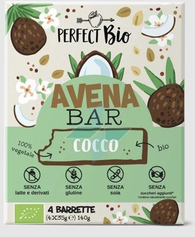 Ambrosiae Perfect Barretta Bio Avena Bar Cocco Senza Glutine 4x35g