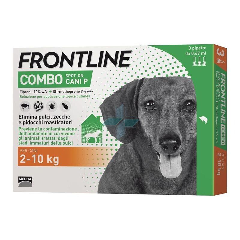 Frontline Combo Linea Pulci Zecche Pidocchi Cani 2-10 Kg Spot-On 3x0.67ml