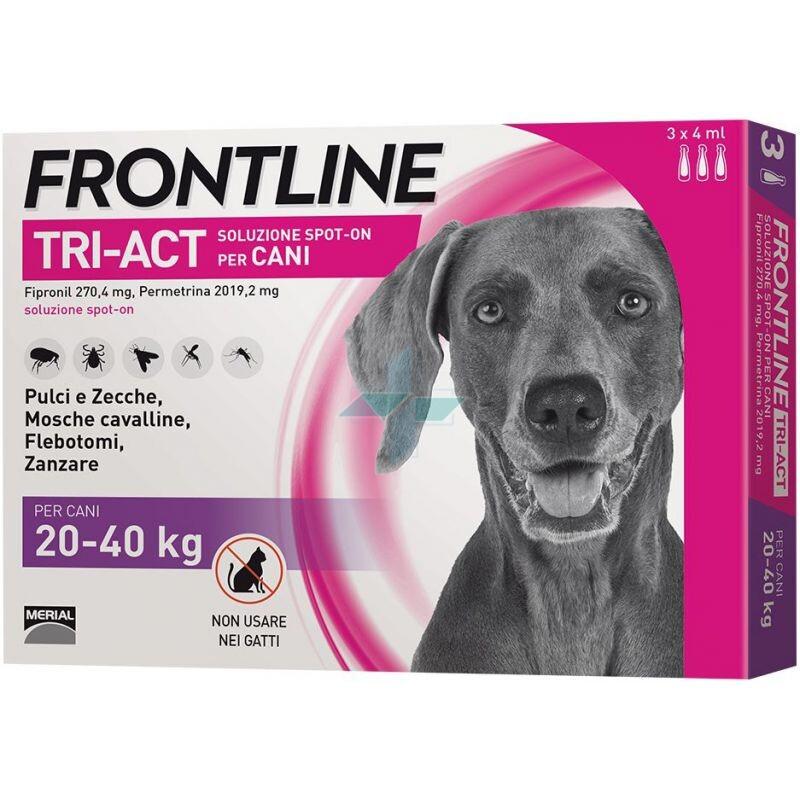 Frontline Tri-Act Linea Pulci Zecche Zanzare Cani 20-40Kg Spot-On 3x4ml