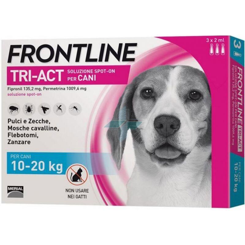 Frontline Tri-Act Linea Pulci Zecche Zanzare Cani 10-20Kg Spot-On 3x2ml