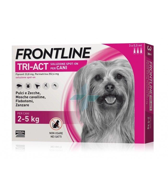 Frontline Tri-Act Linea Pulci Zecche Zanzare Cani 2-5Kg Spot-On 3x0.5ml