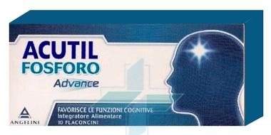 Angelini Acutil Fosforo Advance Integratore Fosfoserina 10 Flaconcini