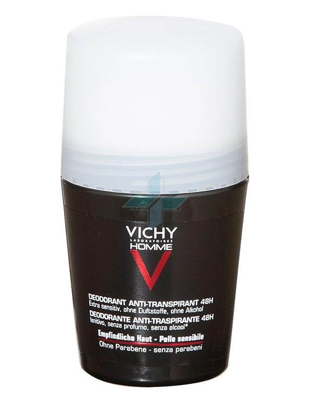 Vichy Linea Homme Deo Deodorante Uomo Roll-on 48h Pelle Sensibile 50 ml