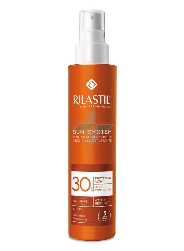 Rilastil Linea Sun System PPT SPF30 Spray Solare Elasticizzante Corpo 200 ml