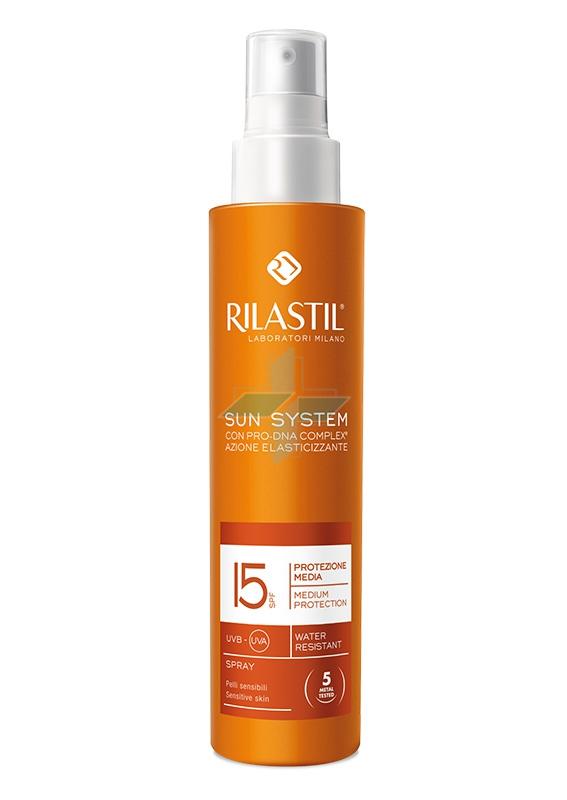 Rilastil Linea Sun System PPT SPF15 Spray Solare Elasticizzante Corpo 200 ml