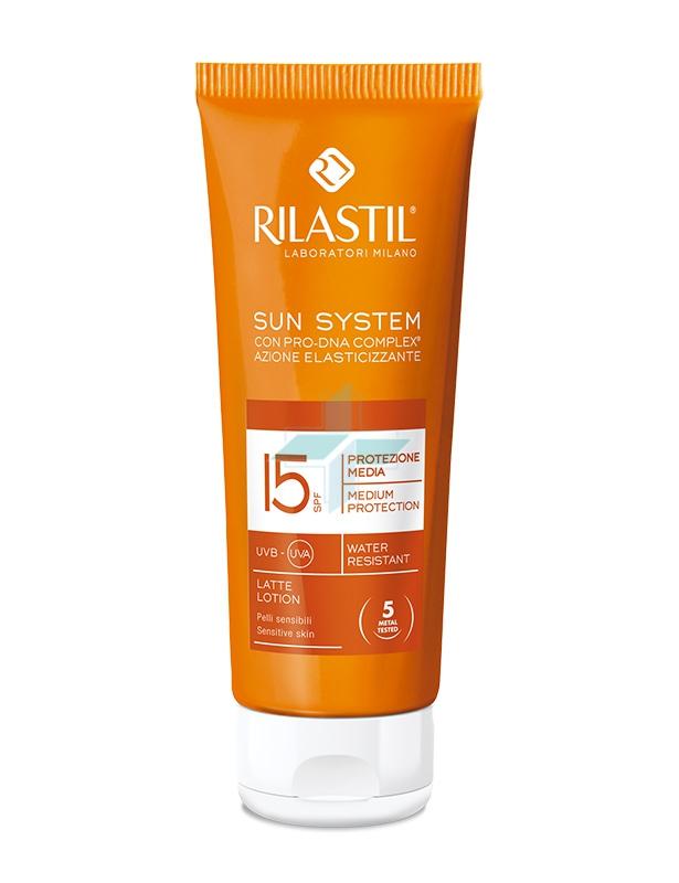Rilastil Linea Sun System PPT SPF15 Latte Solare Elasticizzante Corpo 100 ml