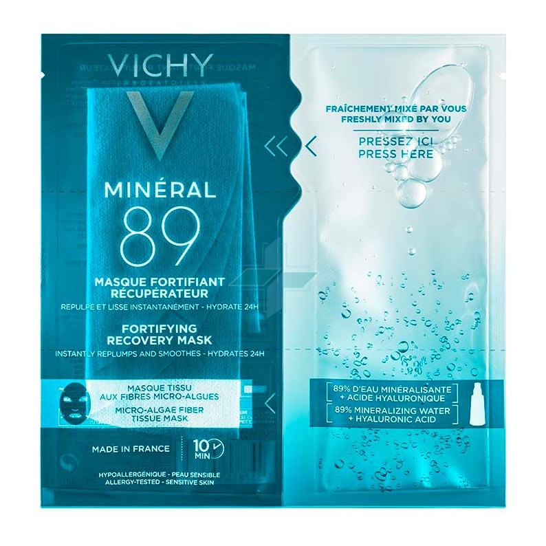 Vichy Linea Mineral 89 Tissue Maschera Rigenerante Protettiva Idratante 29 g